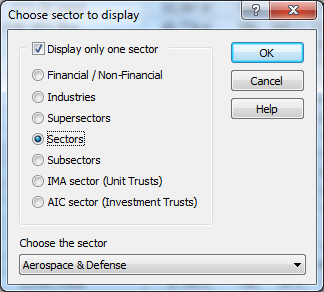 ShareScope: Choose sector to display
